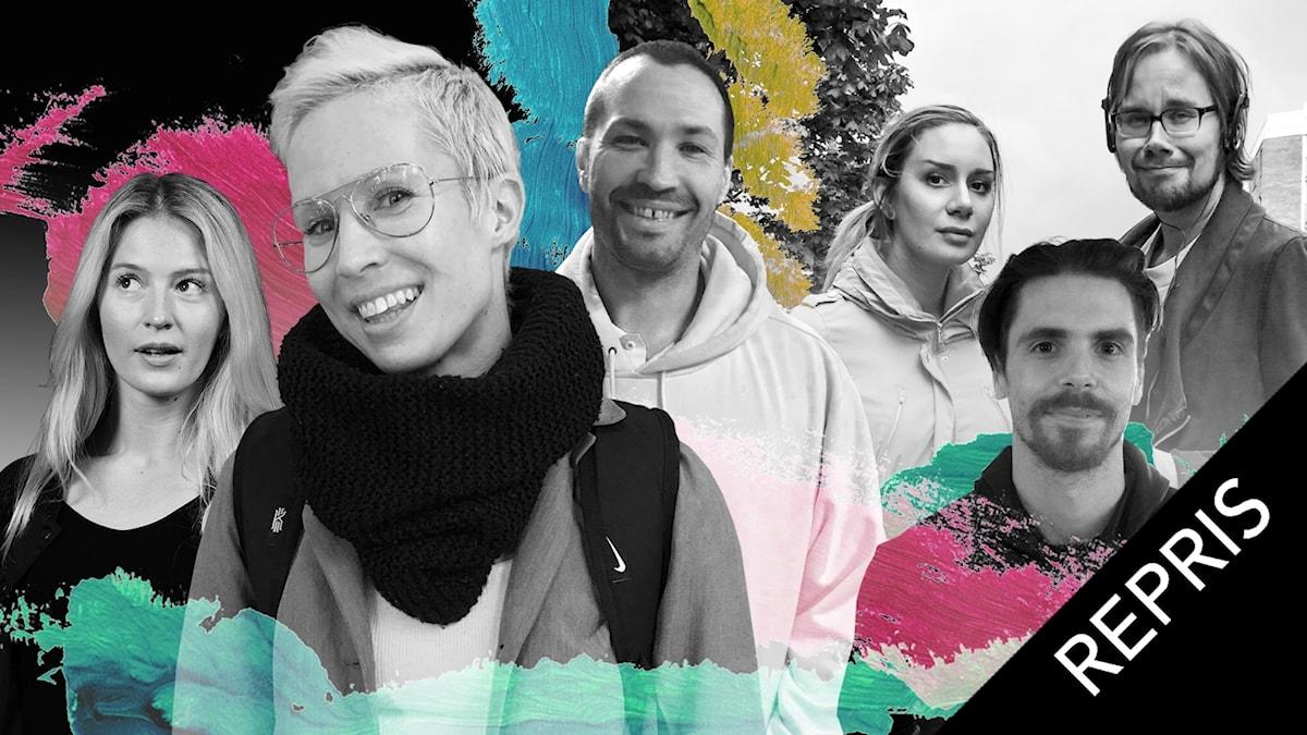 Maija Waris, Maria Huhtinen, Kari Hyökki, Jasmin Lindberg, Daniel Koivunen och Erkki Kuronen.