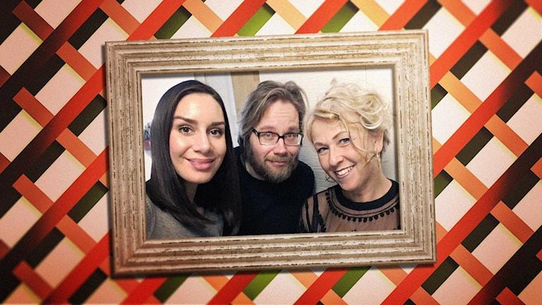 Erkki och Jasmin hemma hos allkonstnären Anja