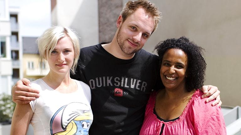 Sissela Benn, Robin Paulsson, Marika Carlsson. Foto: Kristin Montagu-Evans.