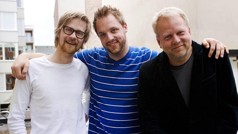 Anders Johansson, Robin Paulsson, Peter Apelgren. Foto: Kristin Montagu-Evans/Sveriges Radio.