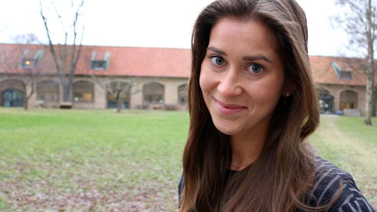 Stina Sämgård, redaktör på Underhållningsredaktionen och Marika i P4. Foto: Ronnie Ritterland / Sveriges Radio