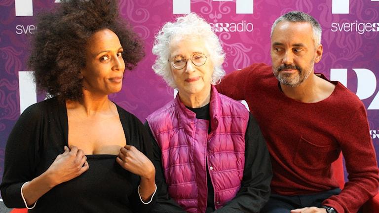 Marika Carlsson, Magdalena Ribbing och Hasse Brontén FOTO: Cecilia Djurberg/Sveriges Radio