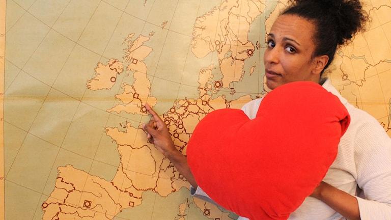 Marika romantiserar den tid hon bodde i London. Vad romantiserar du? FOTO: Cecilia Djurberg/Sveriges Radio