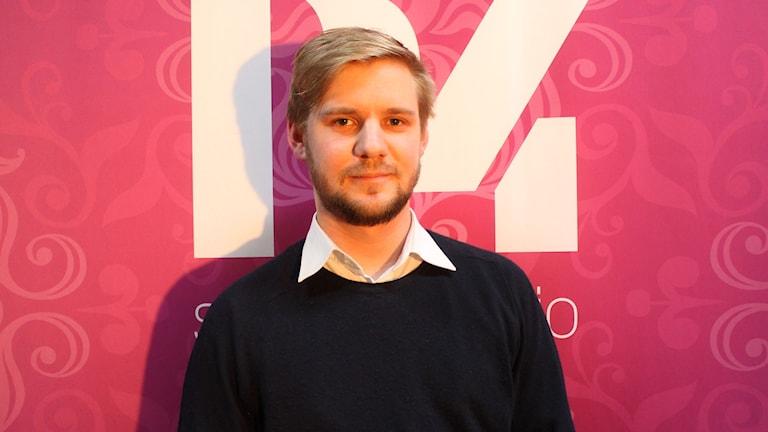 Andreas Wahlberg är doktorand i litteraturvetenskap vid Stockholms Universitet. FOTO: Cecilia Djurberg/Sveriges Radio