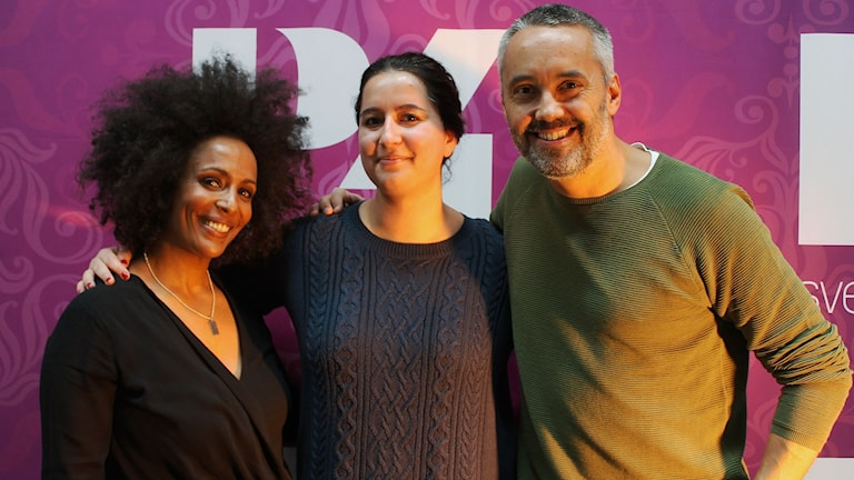 Marika Carlsson, Nishteman Hosseini och Hasse Brontén FOTO: Cecilia Djurberg/Sveriges Radio