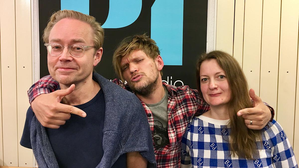 Fredrik Furtenbach, Henrik Torehammar och Maggie Strömberg.