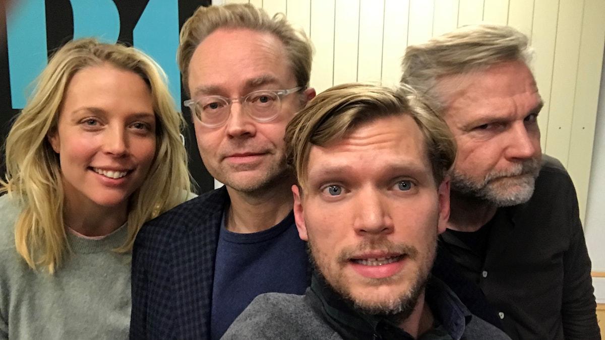 Annie Reuterskiöld, Fredrik Furtenbach, Henrik Torehammar och Tomas Ramberg.