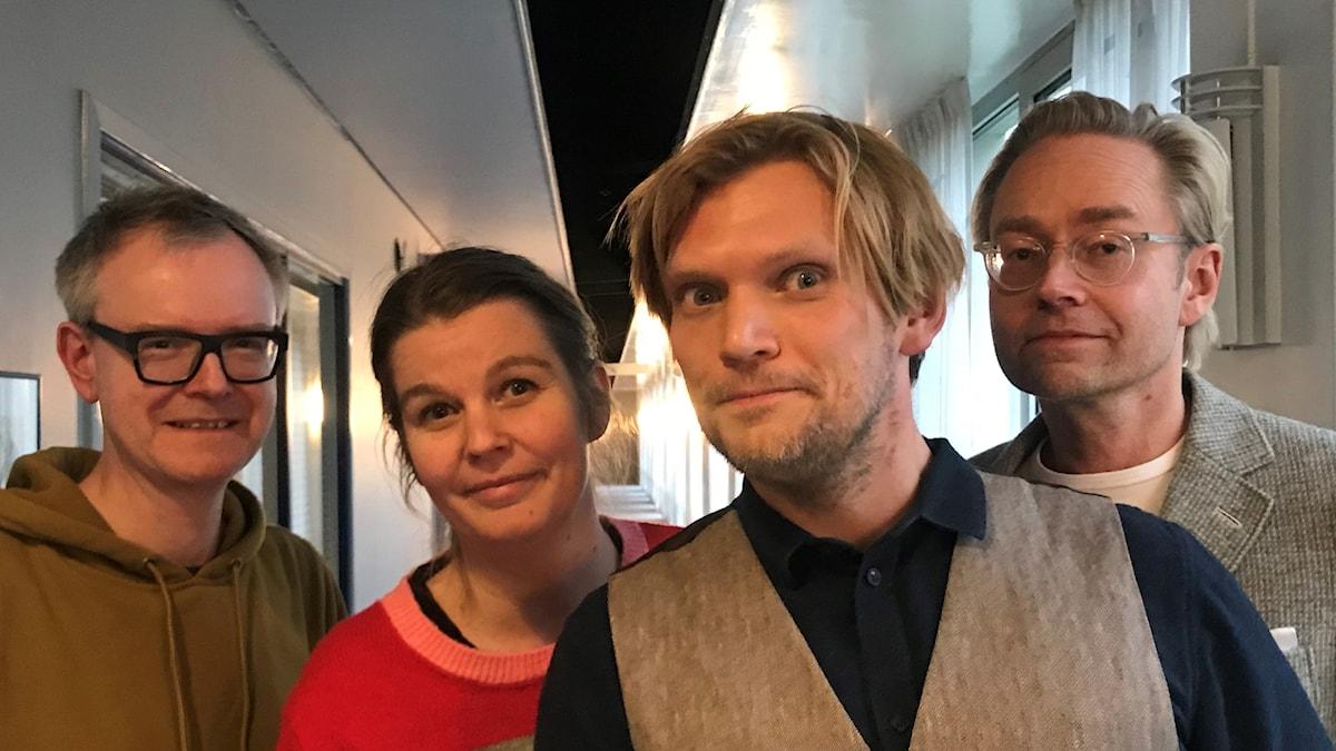 Micael Björk, Henrika Åkerman, Henrik Torehammar och Fredrik Furtenbach.
