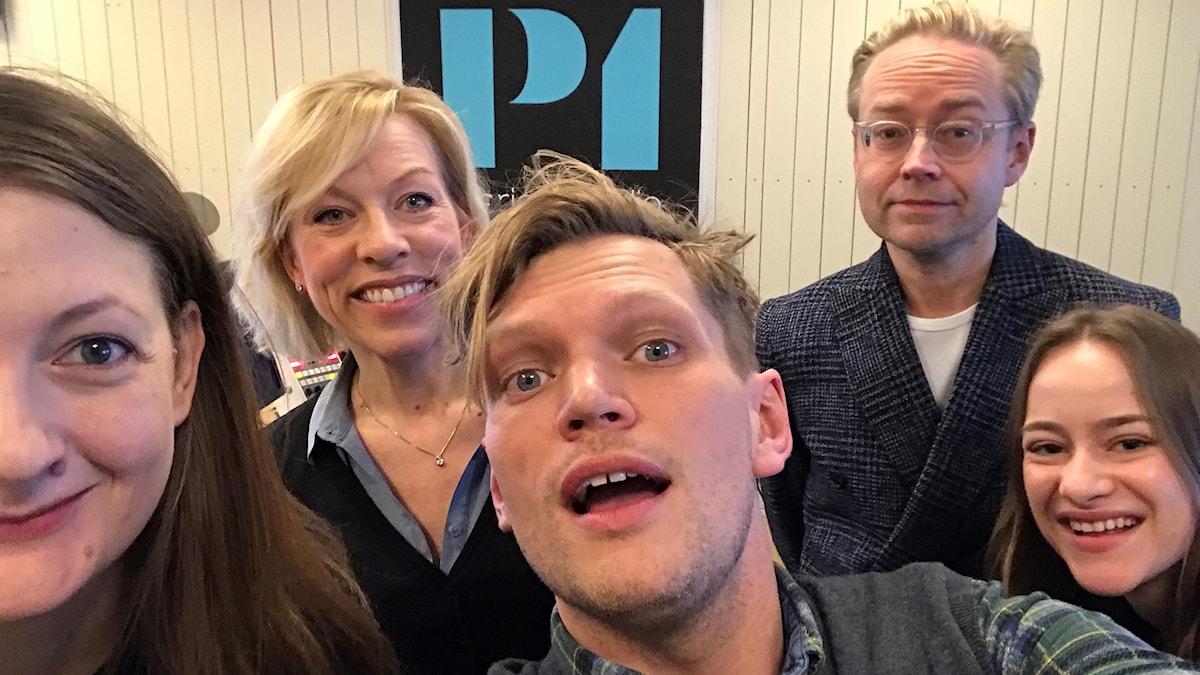 Maggie Strömberg, Ginna Lindberg, Henrik Torehammar, Fredrik Furtenbach och Thea Mossige-Norheim