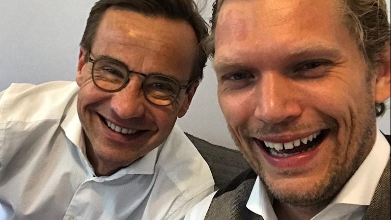 Ulf Kristersson (M) och Henrik Torehammar.