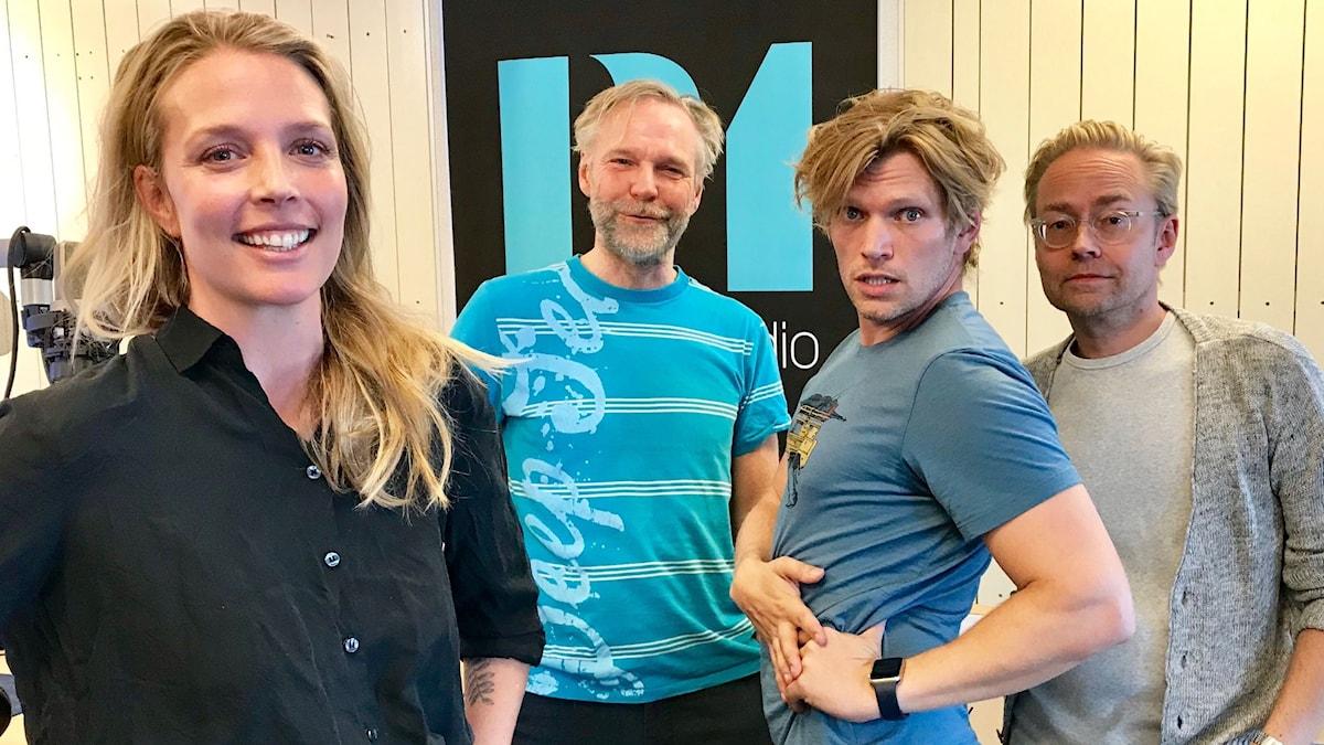 Annie Reuterskiöld, Tomas Ramberg, Henrik Torehammar och Fredrik Furtenbach.