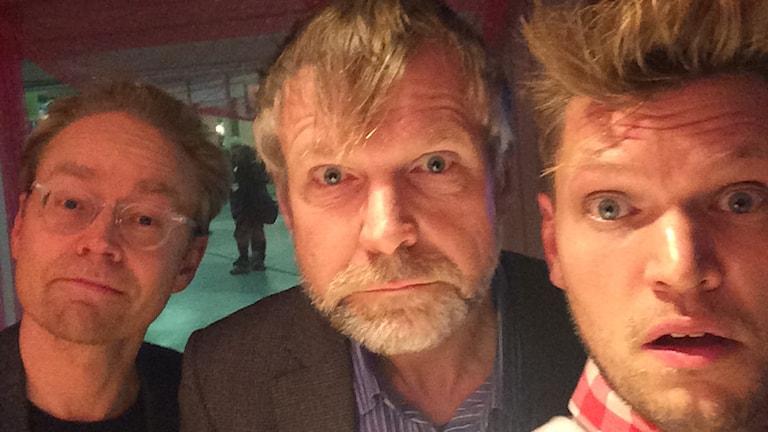 Fredrik Furtenbach, Tomas Ramberg och Henrik Torehammar. Foto: Henrik Torehammar.