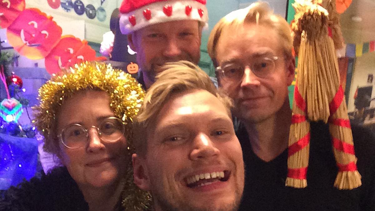 Ulrika Schenström, Henrik Torehammar, Tomas Ramberg och Fredrik Furtenbach. Foto: Henrik Torehammar.