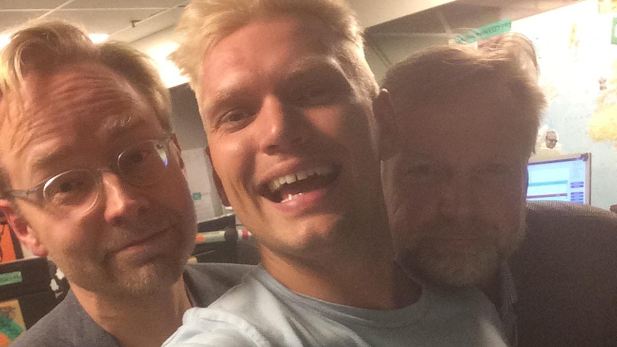 Fredrik Furtenbach, Henrik Torehammar och Tomas Ramberg. Foto: Henrik Torehammar/SR.