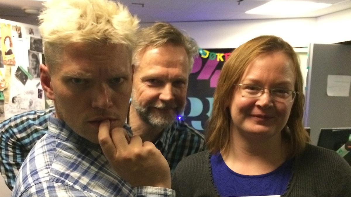 Henrik Torehammar, Tomas Ramberg och Sara Gunnerud. Foto: Henrik Torehammar/SR.