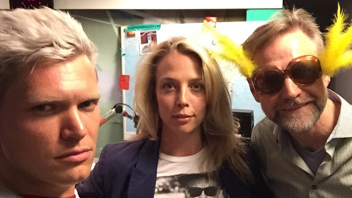 Henrik Torehammar, Annie Reuterskiöld och Tomas Ramberg. Foto: Henrik Torehammar/SR.