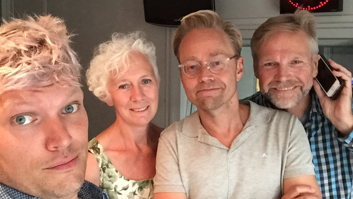 Henrik Torehammar, Annika Digreus, Fredrik Furtenbach och Tomas Ramberg. Foto: Henrik Torehammar/SR.