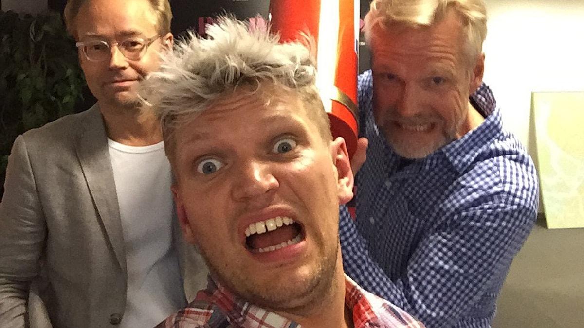 Henrik Torehammar, Fredrik Furtenbach och Tomas Ramberg. Foto: Henrik Torehammar/Sveriges Radio.