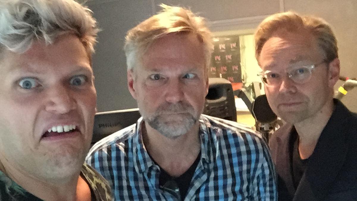Henrik Torehammar, Tomas Ramberg och Fredrik Furtenbach. Foto: SR/Henrik Torehammar.