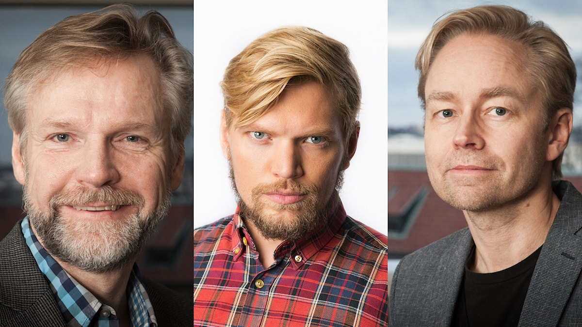 Tomas Ramberg, Henrik Torehammar och Fredrik Furtenbach. Foto:  Pablo Dalence, Mattias Ahlm, Pablo Dalence/Sveriges Raido.