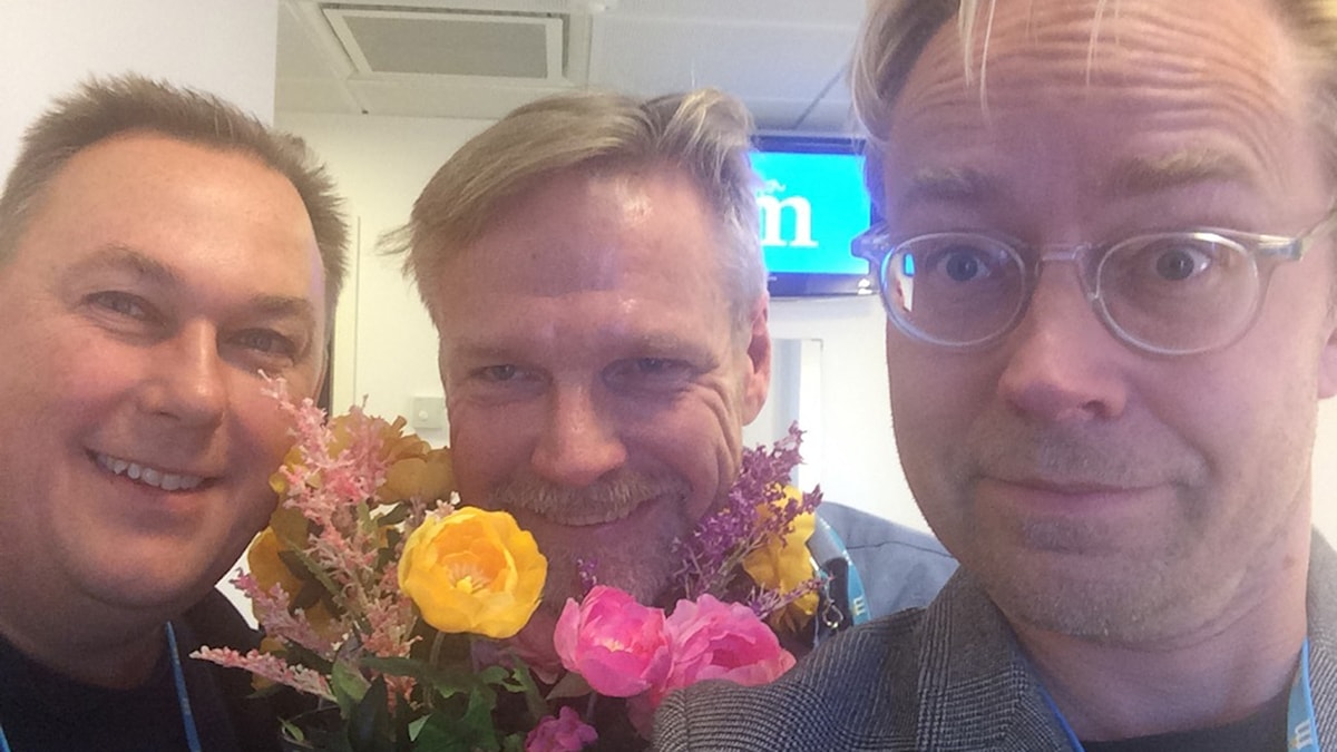Örjan Bengtzing, Tomas Ramberg och Fredrik Furtenbach. Foto: Fredrik Furtenbach/SR.