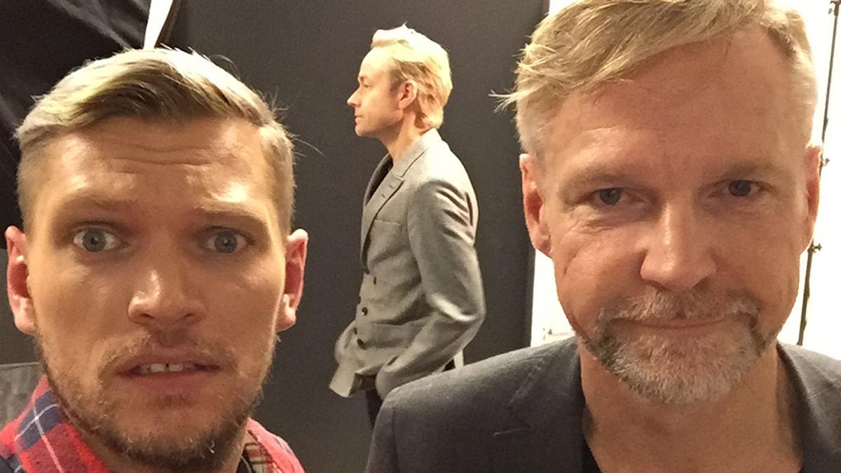 Henrik Torehammar, Fredrik Furtenbach och Tomas Ramberg. Foto: Henrik Torehammar/SR.