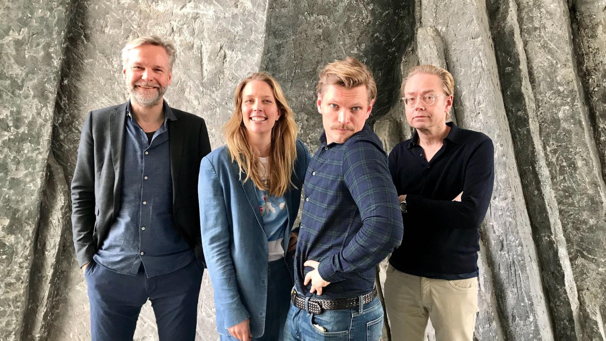 Tomas Ramberg, Annie Reuterskiöld, Henrik Torehammar och Fredrik Furtenbach.