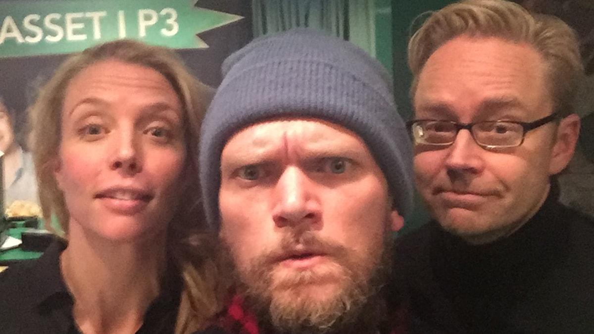 Annie Reuterskiöld, Henrik Torehammar, Fredrik Furtenbach. Foto: Sveriges Radio