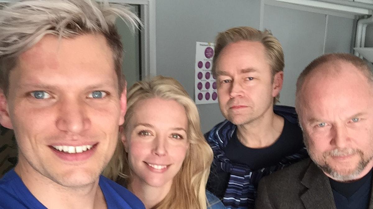 Henrik Torehammar, Annie Reuterskiöld, Fredrik Furtenbach och Wilhelm Behrman.