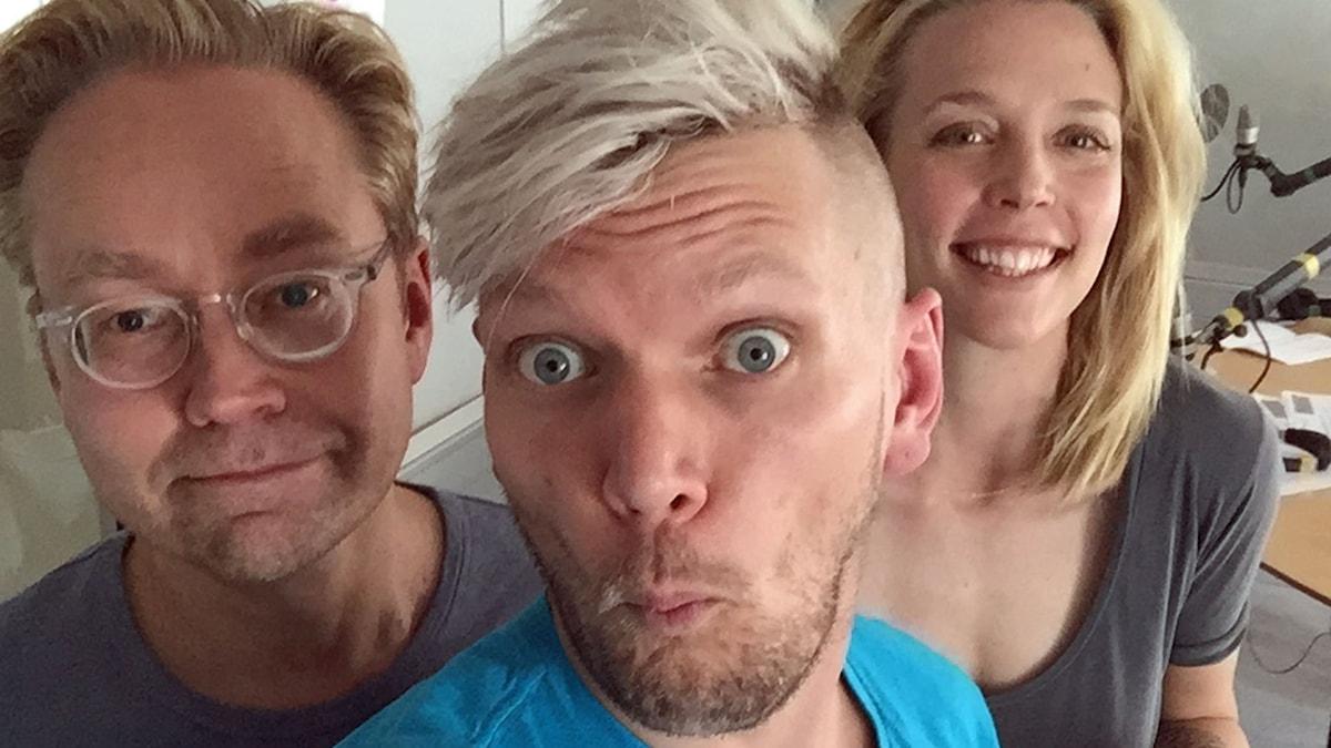 Fredrik Furtenbach, Henrik Torehammar och Annie Reuterskiöld.