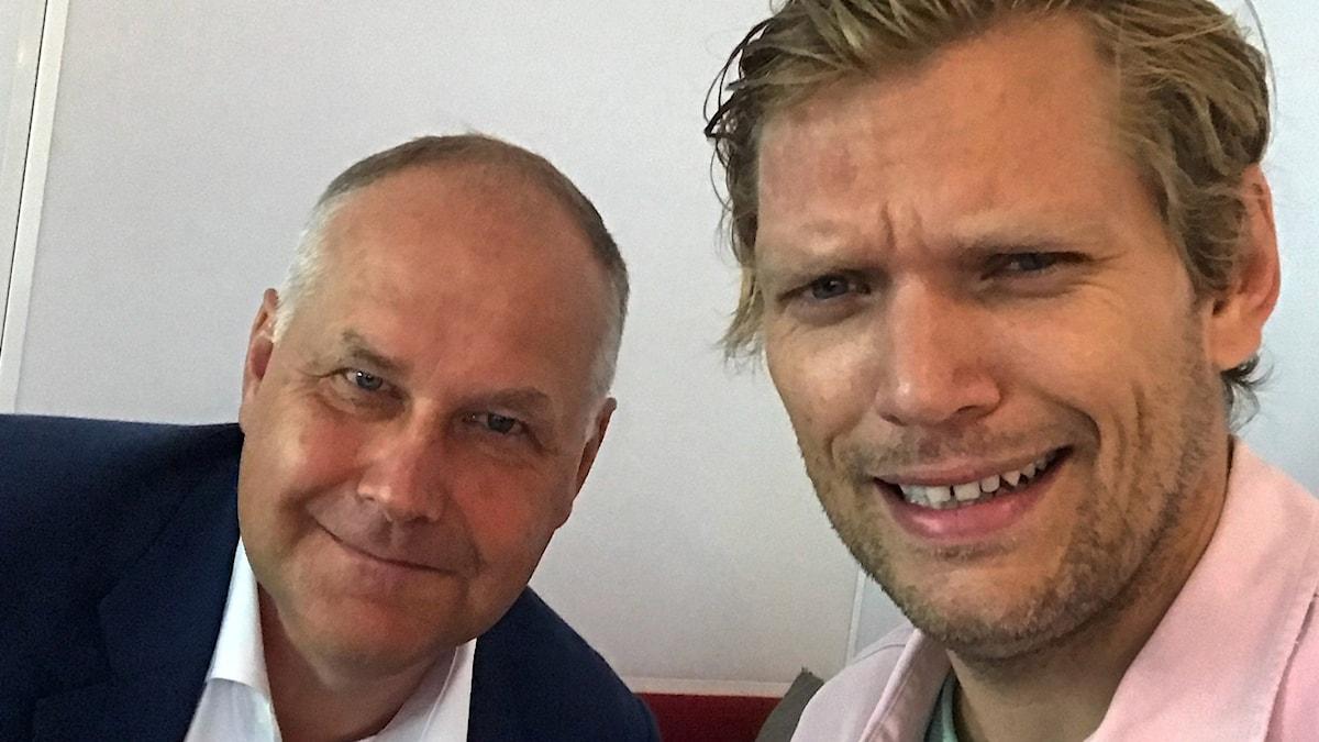 Jonas Sjöstedt (V) och Henrik Torehammar.