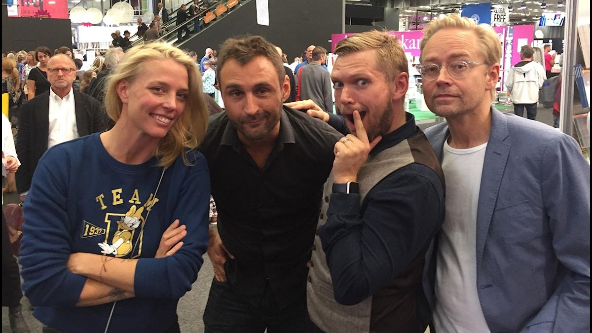 Annie Reuterskiöld, Johar Bendjelloul, Henrik Torehammar och Fredrik Furtenbach.