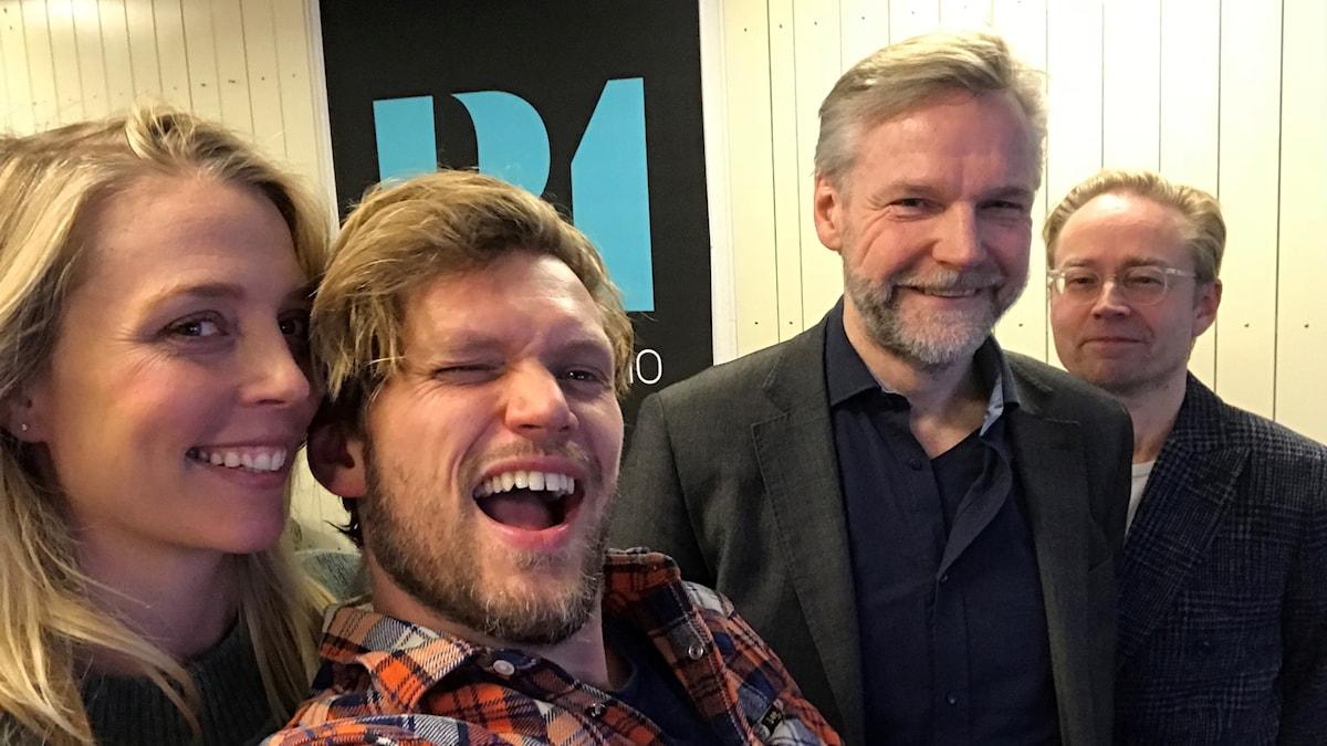 Annie Reuterskiöld, Henrik Torehammar, Tomas Ramberg och Fredrik Furtenbach.