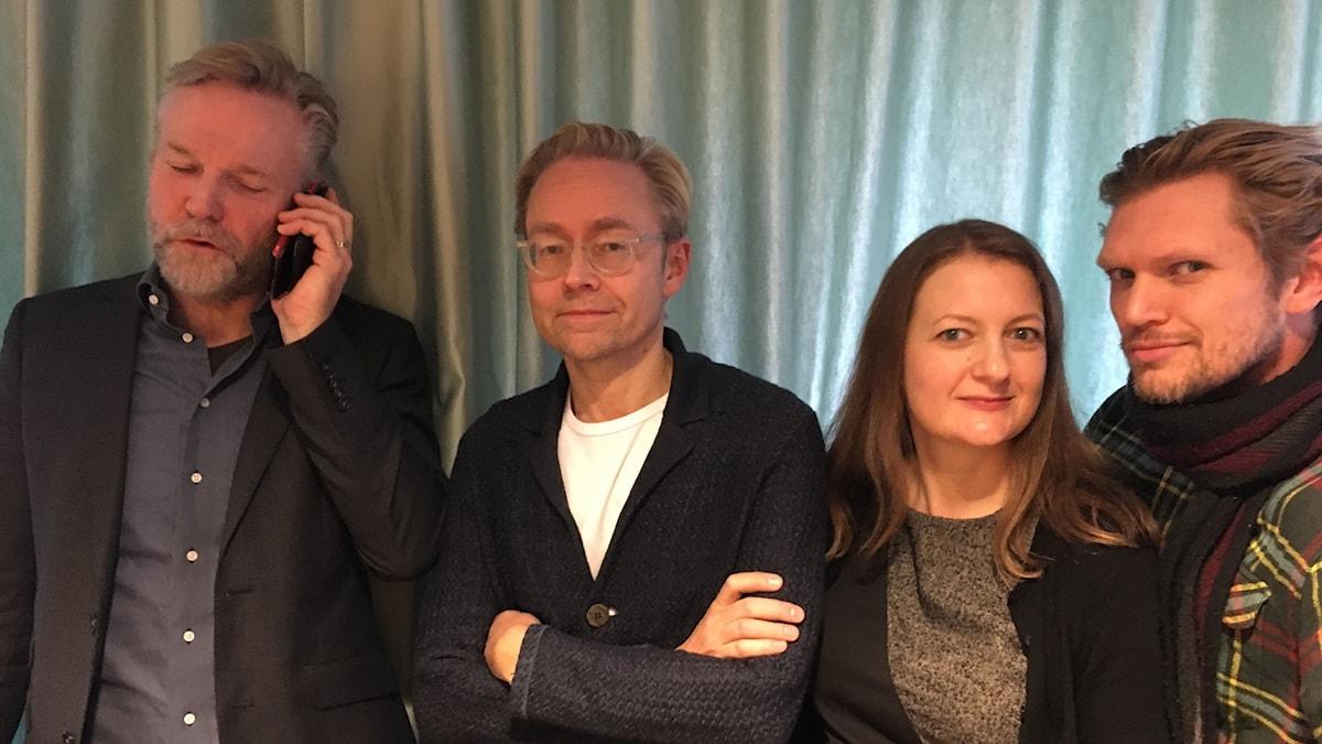 Tomas Ramberg, Fredrik Furtenbach, Maggie Strömberg och Henrik Torehammar.