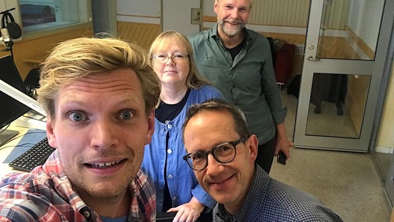 Henrik Torehammar, Birgitta Johansson, Tomas Ramberg och Mats Eriksson