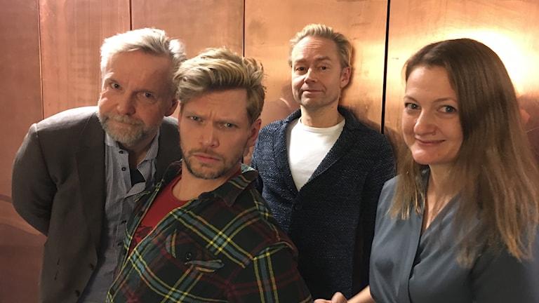 Tomas Ramberg, Henrik Torehammar, Fredrik Furtenbach och Maggie Strömberg.