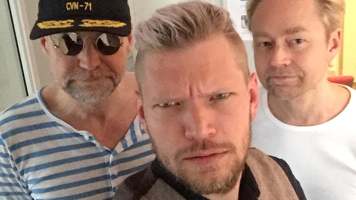 Podden Det politiska spelet, avsnitt 76. Tomas Ramberg, Henrik Torehammar och Fredrik Furtenbach. Foto: Henrik Torehammar/Sveriges Radio
