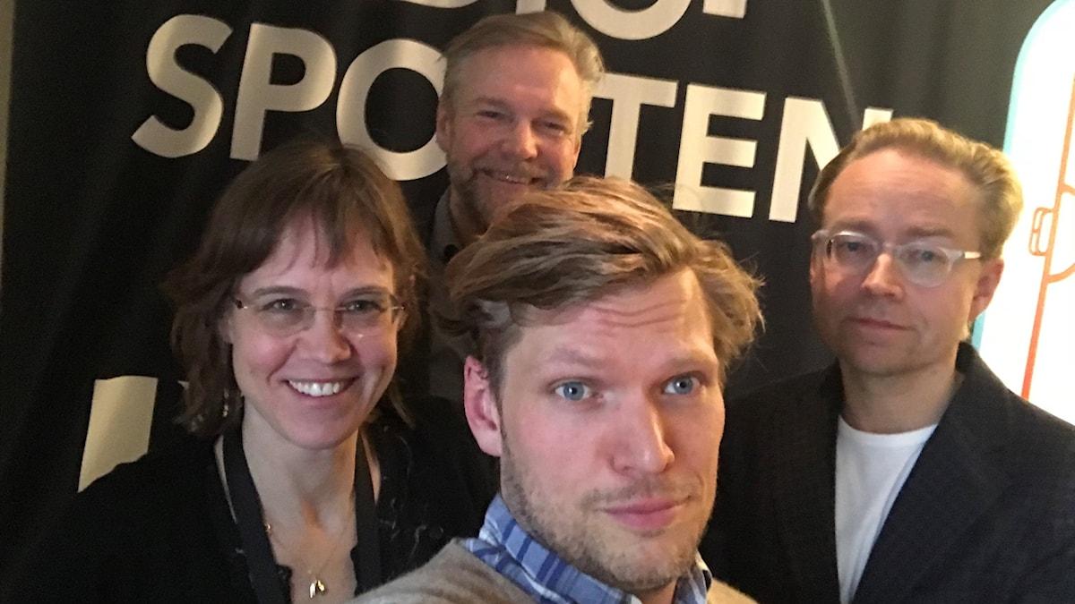 Lova Olsson, Tomas Ramberg, Henrik Torehammar och Fredrik Furtenbach.