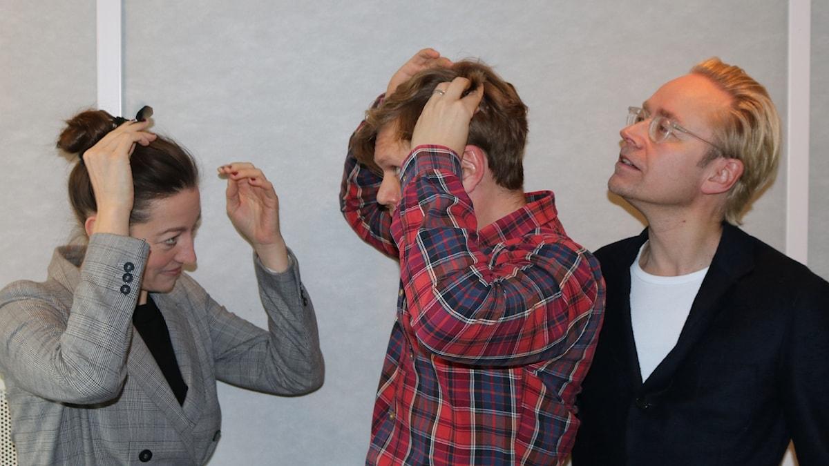 My Rohwedder, Henrik Torehammar och Fredrik Furtenbach.