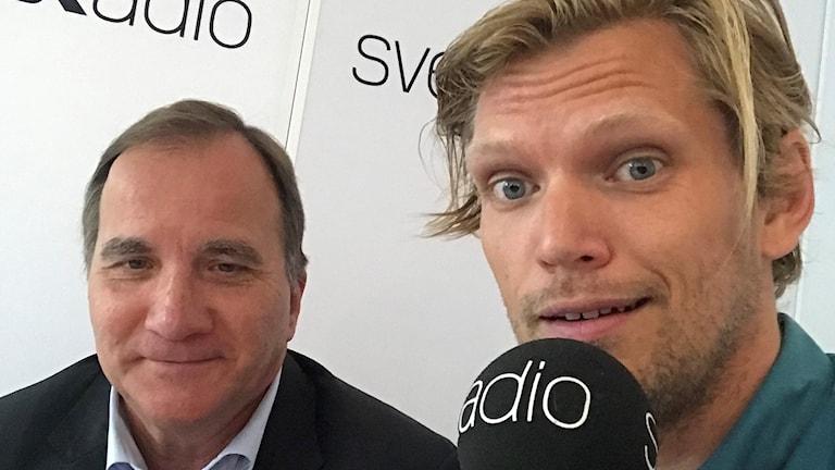 Stefan Löfven (S) och Henrik Torehammar.