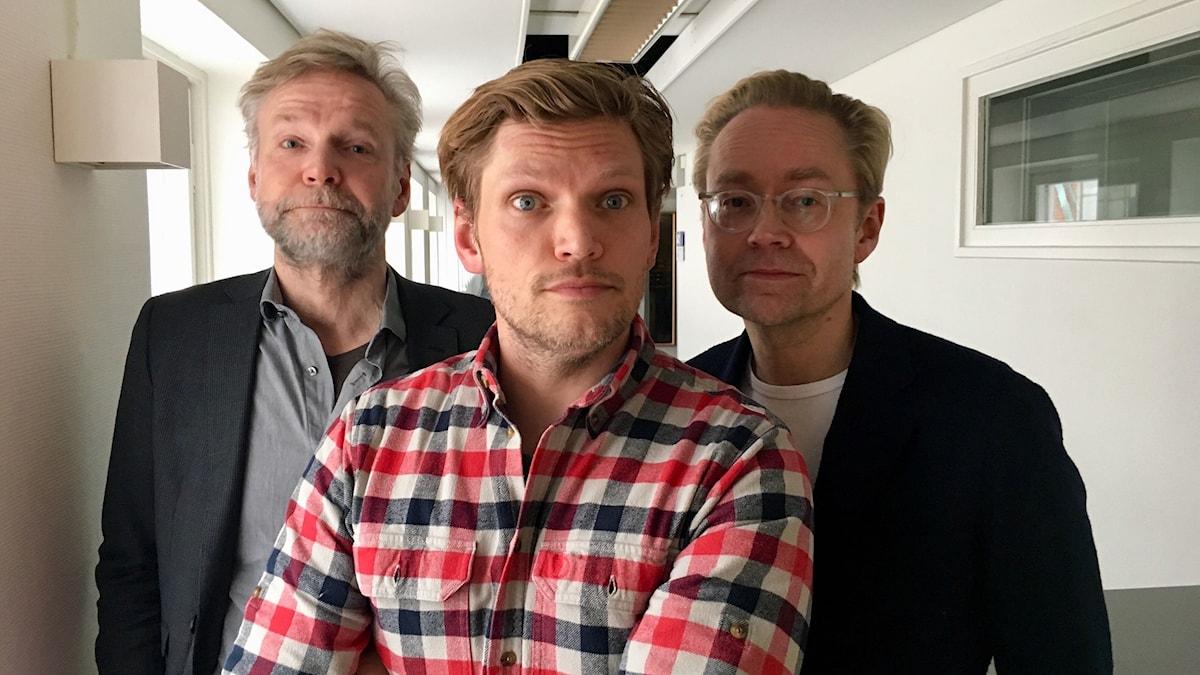Tomas Ramberg, Henrik Torehammar och Fredrik Furtenbach.