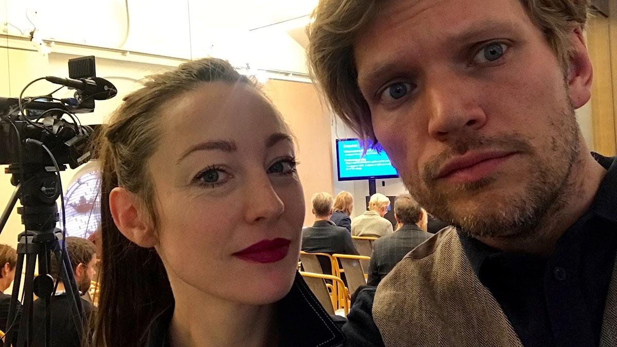 My Rohwedder och Henrik Torehammar.