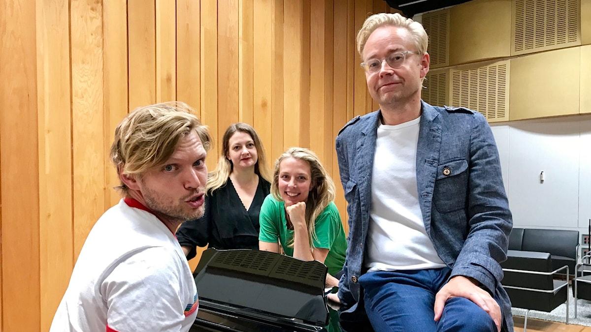 Henrik Torehammar, Maggie Strömberg, Annie Reuterskiöld och Fredrik Furtenbach.