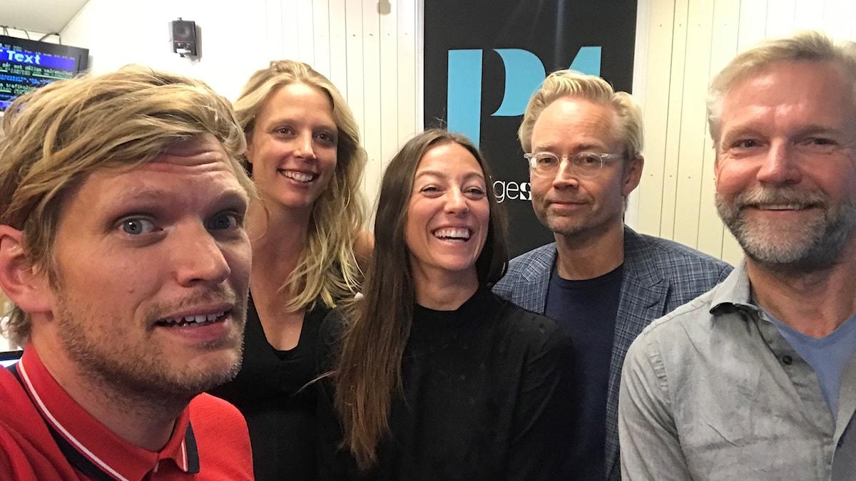 Henrik Torehammar, Annie Reuterskiöld, My Rohwedder, Fredrik Furtenbach och Tomas Ramberg.