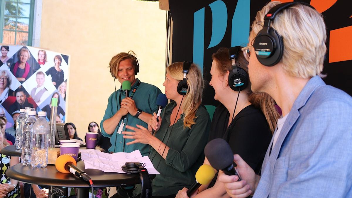 Henrik Torehammar, Annie Reuterskiöld, Maggie Strömberg och Fredrik Furtenbach.