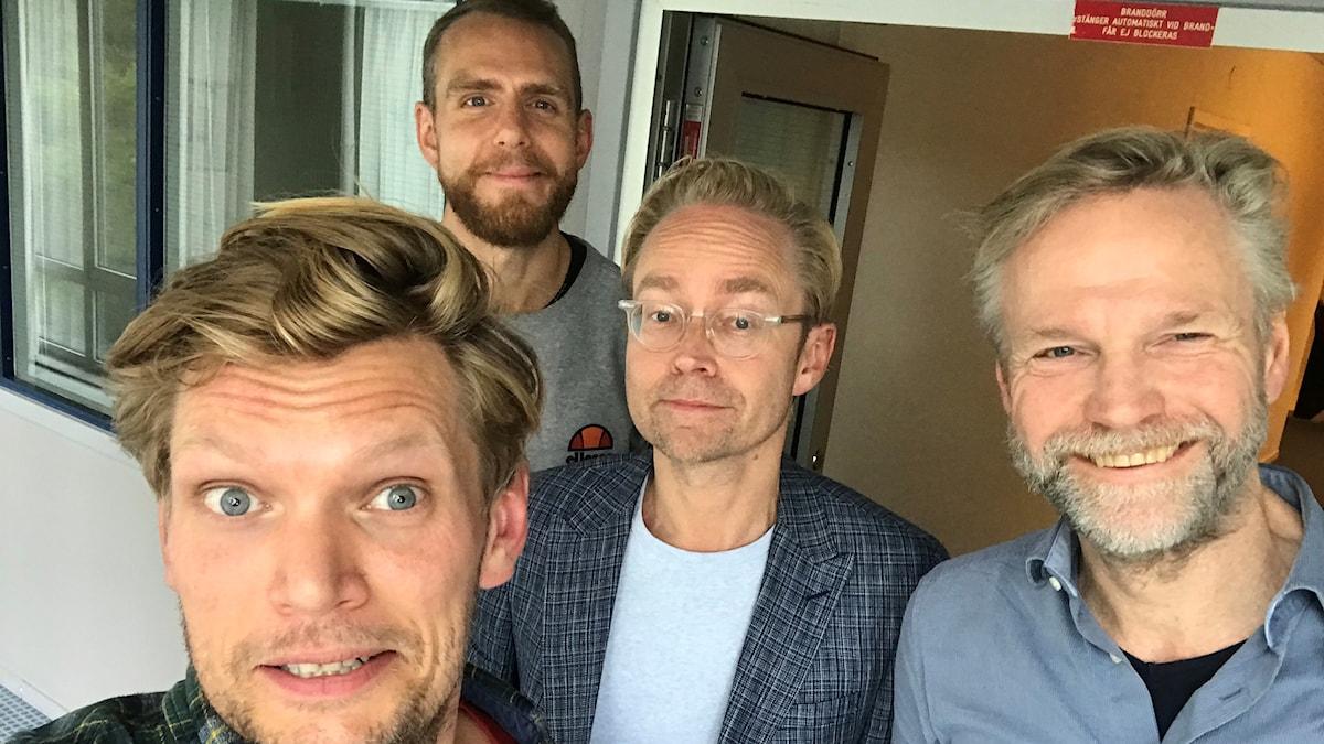 Henrik Torehammar, Björn Barr, Fredrik Furtenbach och Tomas Ramberg.