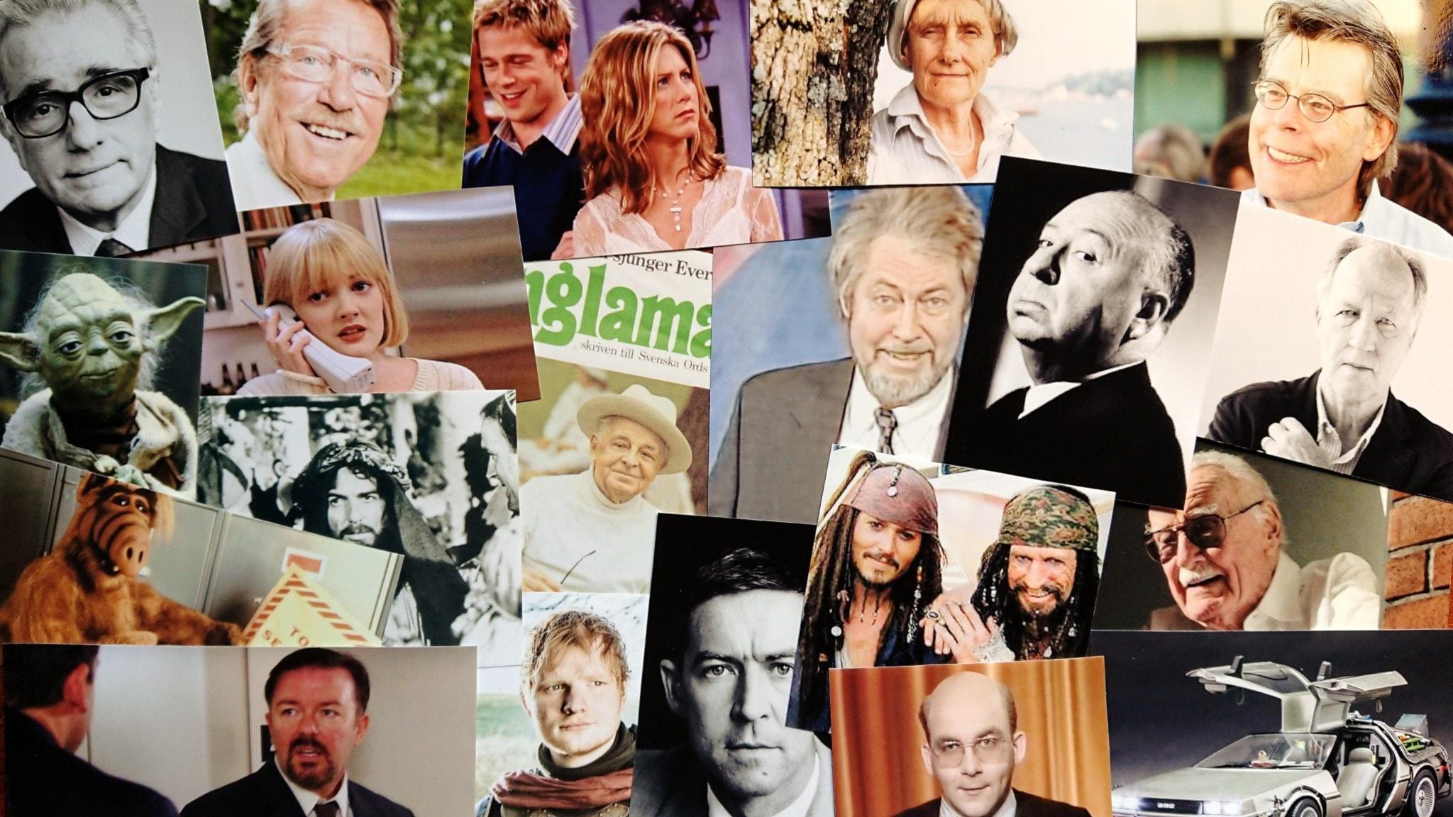 Bilden är ett collage av personer som nämns i programmet.