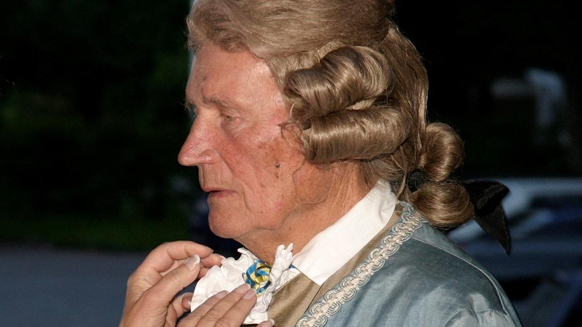 Henning Sjöström på maskerad.