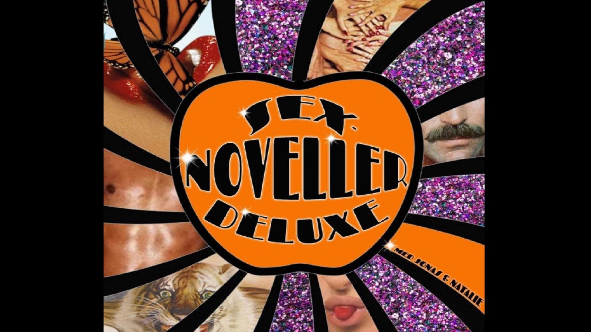 Bilden visar logotypen som podden Sexnoveller Deluxe använder.