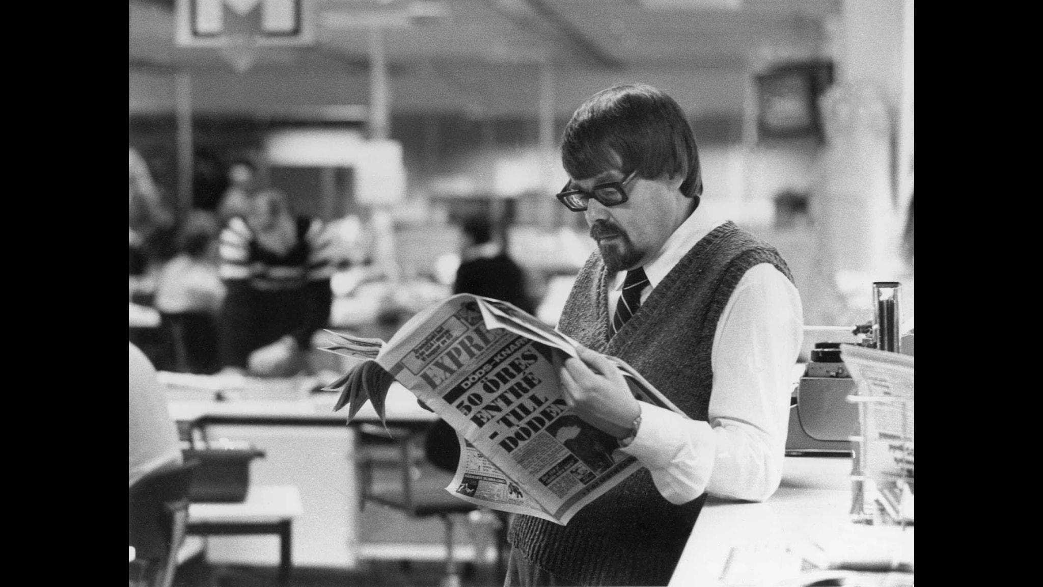 o Strömstedt på Expressen 1980 Foto: SVT Bild
